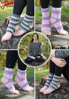 Knit yoga socks with Soft Raggi.