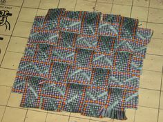 10 1″ strips of inkle weaving plaited together. From the blog of Daryl Lancaster.  #inkle weaving