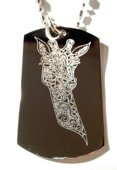 Zebra Animal Jewelry Military Pendant Brand Necklace Metal Dog Tag