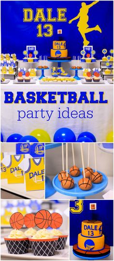 If you love basketball, you should see this awesome party! See more party planning ideas at CatchMyParty.com!