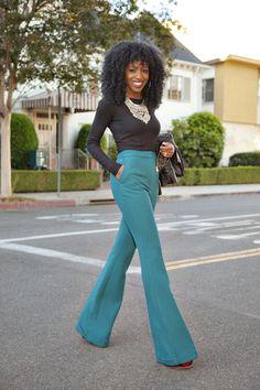 Long Sleeve Crop Top + Wide Leg Trousers