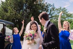 Confetti throw at a Bristol wedding. Image by Becky Male Photography