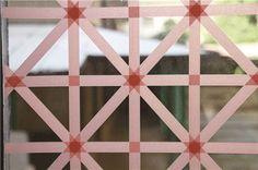 Fensterdeko mit Washi-Tape