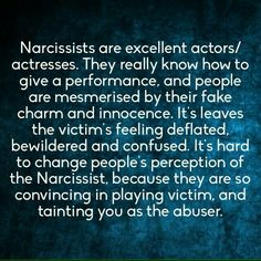 Narcissists always blames others...