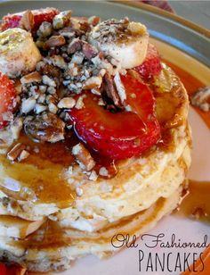 old fashioned pancakes from scratch-homemade pancakes recipe