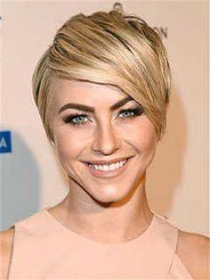 Short Haircuts for Heart Shaped Faces: Sleek Crop, Julianne Hough