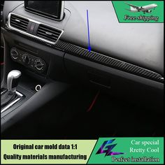 74.80$  Watch more here - http://aiwsi.worlditems.win/all/product.php?id=32794194810 - Car styling ABS interior trim For Mazda 3 AXELA 2014 2015 2016 Central Control Instrument Panel Decoration Cover Trim Garnish