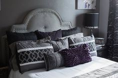 My new black & gray guest room. Designed by Marlene Stotts of Exquisite Interior Decor.
