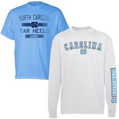 1e66d7341eb North Carolina Tar Heels (UNC) 2-Piece T-Shirt Combo Pack - White Carolina  Blue