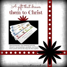 Looking for an inexpensive gift that will challenge and encourage Christian growth? For under $5, you can print these cards and give them to anyone on your list.