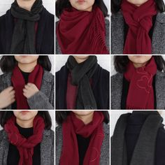 9 classy ways to wear a winter scarf winter fashion scarfh Is winter over yet? ☃️ Until then, these 9 classy ways to wear a scarf will keep you warm! 30 Awesome Photo of Impressive Ways To Wear Blanket Scarf, You can generate a bandana for canines by Diy Fashion, Ideias Fashion, Autumn Fashion, Fashion Outfits, Fashion Tips, Trendy Fashion, Fashion Clothes, Trendy Style, Fashion Hacks