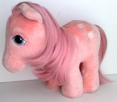 my little pony cotton candy | My Little Pony Plush Cotton Candy G1 Softies Hasbro Vintage 80s Pink