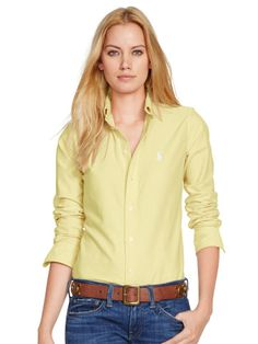 Custom-Fit Oxford Shirt - Create Your Own Long-Sleeve - RalphLauren.com