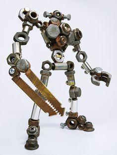 Traditional structured work in metal welding For Faster Service・ Welding Art Projects, Metal Art Projects, Diy Welding, Metal Welding, Metal Crafts, Metalarte, Metal Robot, Motif Art Deco, Sculpture Metal