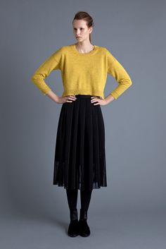 Samuji - AW 15 Koana sweat & Gidion skirt We Wear, How To Wear, Ready To Wear, Ballet Skirt, Sweaters, Core, Colour, Outfits, Clothes