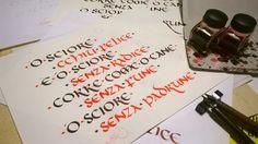 Calligrafia Onciale - Almamegretta. Info: www.bellascrittura.eu