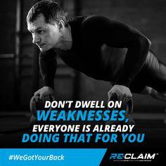 Never train in fear. Re-Claim has you back!  #AreYouCovered #WeGotYourBack #BestSportsDoctors #DominateDiem #ReClaimBSD