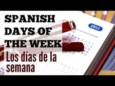Spanish video about days of the week in Spanish: useful Spanish phrases and Spanish questions #Teaching Spanish #Learning Spanish http://www.spanishlearninglab.com/spanish-audio-days-of-the-week/