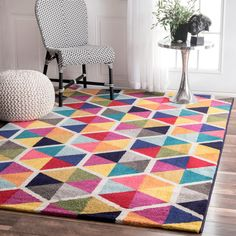 nuLOOM Contemporary Triangle Mosaic Multi Rug (5'x 8') on Overstock.com