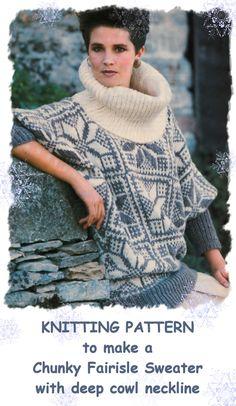 Instant Download PDF Knitting Pattern to make a von YesterdaysMagic