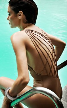 Zimmermann 2011: Poppy Lattice One Piece Bathing Suit Nude One Piece 2823WPPY | Swimwear Boutique ($100-200) - Svpply