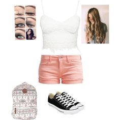 Going to the amusement park with my girls by purplepoponedirection on Polyvore featuring polyvore, fashion, style, Le Temps Des Cerises, Converse and Billabong