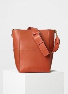 Sangle Shoulder Bag in Natural Calfskin - Céline