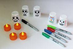 Dia de los Muertos Day of the Dead craft lanterns DIY. For Mexico Art MFW ECC