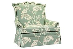 FRENCH HERITAGE D'Artagnan Settee, Seafoam on OneKingsLane.com.  5610.00 retail.  Don't necessarily want this fabric, but...