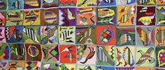 Leuchtende Farben und ansprechende Motive machen die gestickten Wandteppiche der afghanischen Frauen zu wahren Kunstwerken. Foto: Horst David