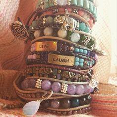 Moonstone Leather Wrap Bracelet | Gemstone Jewelry | Chakra | Charm Bracelet | Hippie | Gypsy Jewelry | Natural | Celestial | Gift for Her