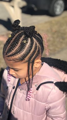 Hairstyle For Girls Video, Little Girl Braid Hairstyles, Cute Toddler Hairstyles, Girls Natural Hairstyles, Natural Hairstyles For Kids, Baby Girl Hairstyles, Kids Braided Hairstyles, Little Black Girls Braids, Little Girl Braid Styles