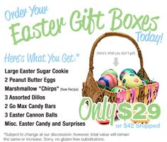 Vegan Easter Basket from Cakewalk Baking Company