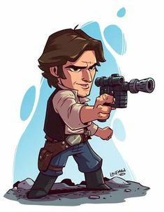 Chibi Star Wars Characters by Derek Laufman Star Wars Fan Art, Star Wars Rebellen, Star Wars Han Solo, Chibi Characters, Star Wars Characters, Star Wars Karikatur, Tableau Star Wars, Star Wars Zeichnungen, Star Wars Cartoon