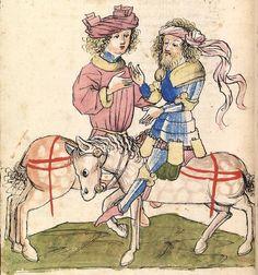 Wolfram <von Eschenbach>   Parzival (Band 2) Hagenau - Werkstatt Diebold Lauber, um 1443-1446 Cod. Pal. germ. 339 Folio 384v
