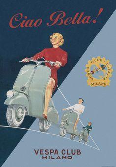 Vintage Advertising Posters | Vespa