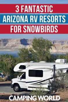Arizona has many great places you should think about visiting the next time you escape south for the winter. Here are three wonderful RV resorts for snowbirds. Rv Resorts In Arizona, Arizona Road Trip, Arizona Travel, Goldfield Ghost Town, Arizona Winter, Camping San Sebastian, Best Rv Parks, Camping World, Rv Camping
