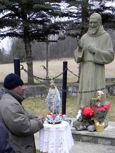 Marmora Shrine; with Saint Padre Pio, and Mama Mary's statue on Greensides Farm