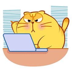 น่ารัก ค่ะ Funny Kitties, Adorable Kittens, Kitty Cats, Funny Dogs, Cute Fat Cats, Gif Mania, Yellow Cat, Animation, Cute Images