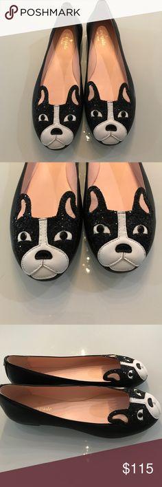Kate Spade French bulldog flat ballerina black New no box. kate spade Shoes Flats & Loafers