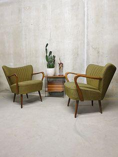 Danish armchairs vintage design cocktail chairs fifties. Ik wil zo'n stoel!