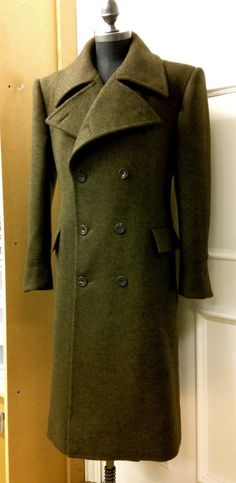 Gieves & Hawkes bespoke great coat in double-faced wool.