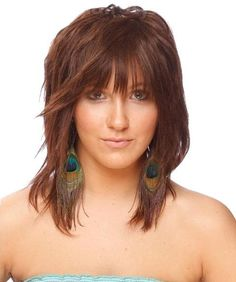 Medium length hairstyles for thin hair, I really like this one.
