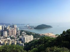 View of Zhuhai City (Pearl Sea City) from the top of the Sightseeing Mountain  #China #Travel by tinaguocello