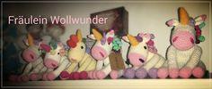 Regenbogen Einhorn * rainbow  * unicorn * Amigurumi * gehäkelt * crochet  https://www.facebook.com/fraeuleinwollwunder