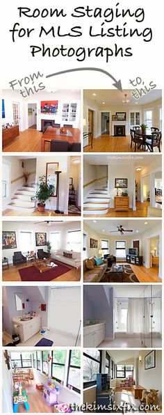 The Kim Six Fix: Room Staging for MLS Listing Photos (Flashback Friday) Examples of bedroom, kitchen, living and dining room staging (including actual MLS before and after photos) and how she did it. Sell My House, Up House, Selling Your House, Interior Exterior, Interior Design, Home Staging Tips, House Staging Ideas, Real Estate Staging, Sweet Home