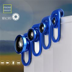 3 in 1 Universal Clip Lens Kits Fisheye Wide Angle Macro Mobile Phone Lens For iPhone Smartphones