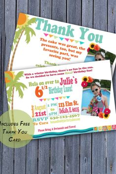 Summer Half Birthday Invitation 1 2 Party
