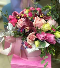 Box Roses, Pink Roses, Flower Boutique, Luxury Flowers, Flower Market, Flower Boxes, Rose Buds, Floral Arrangements, Beautiful Flowers
