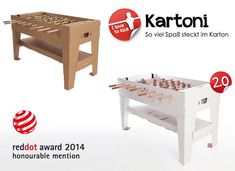 The Eco-Friendly Cardboard Foosball Table by Kickpack l #cardboard #design #cheap
